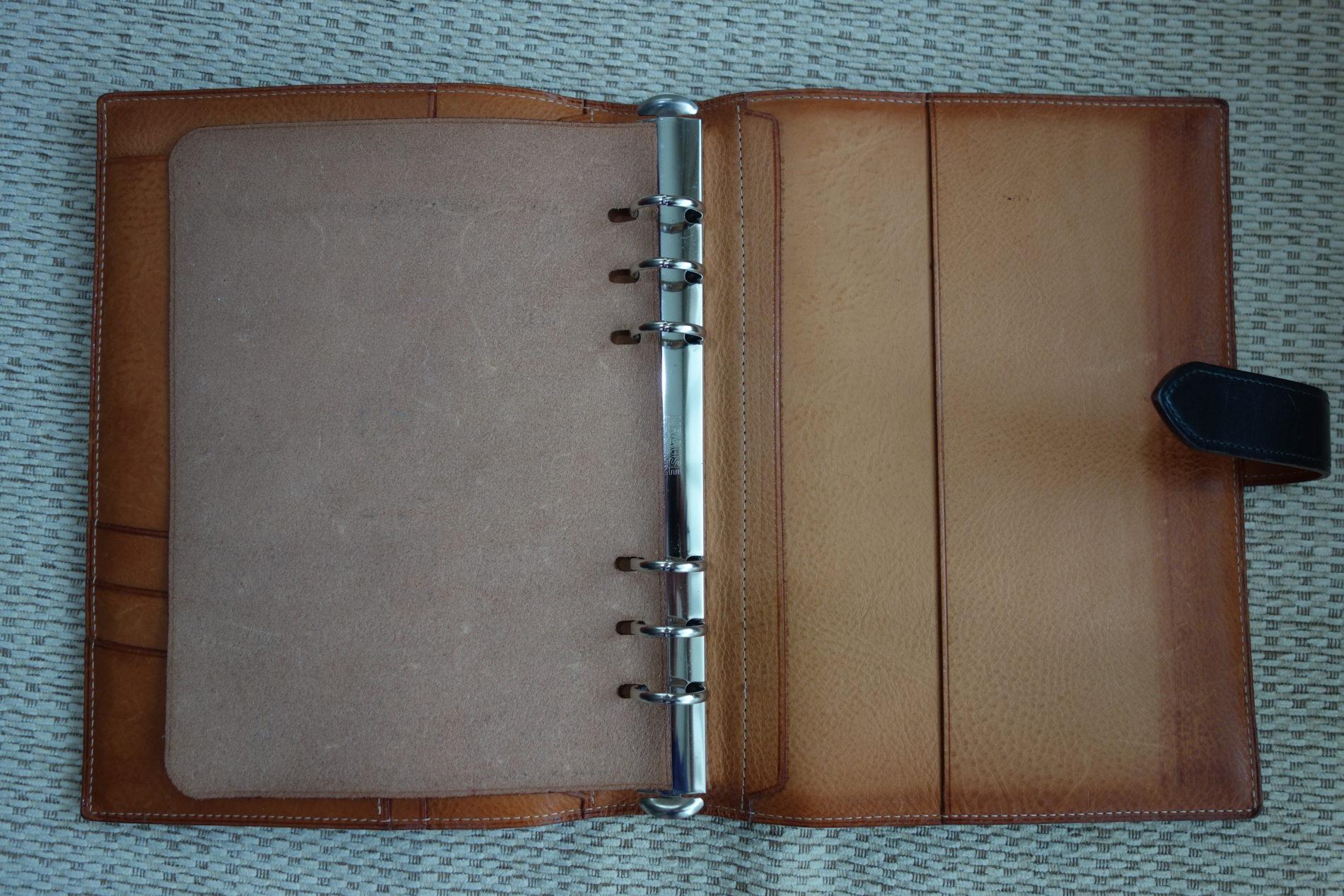 GANZO,A5手帳,内側