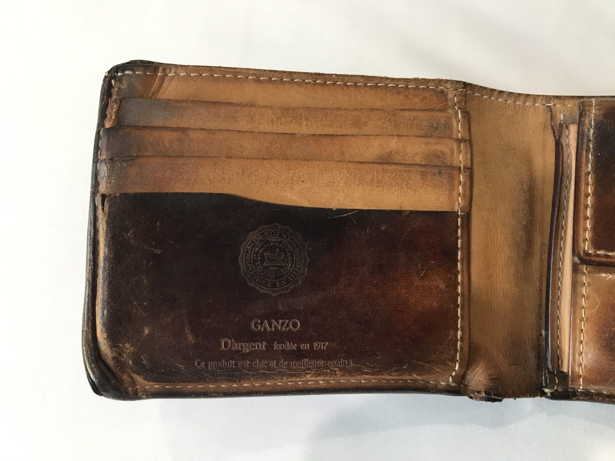 GANZO財布 エイジング 18年
