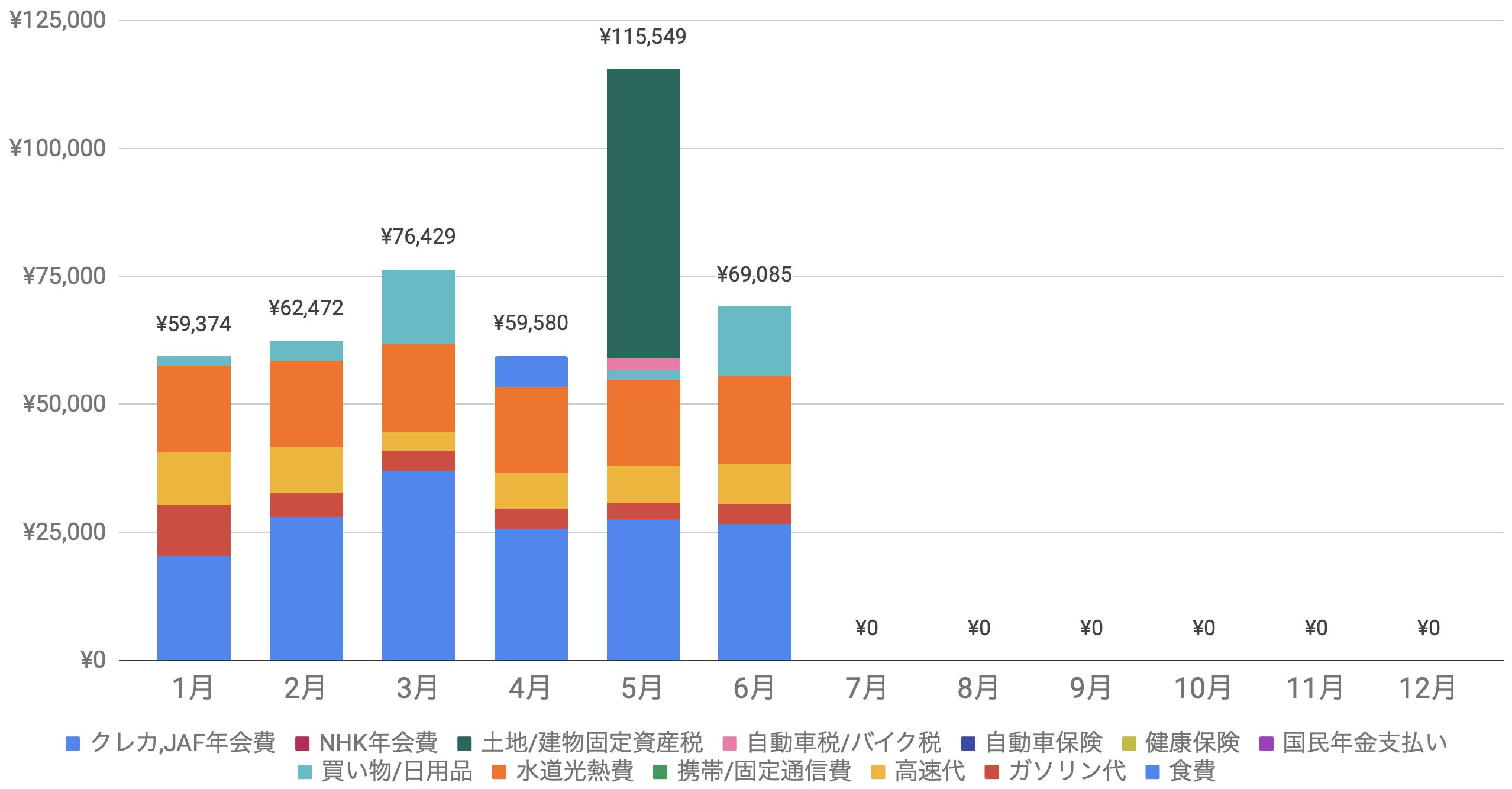 支出実績2020_06月_生活費グラフ