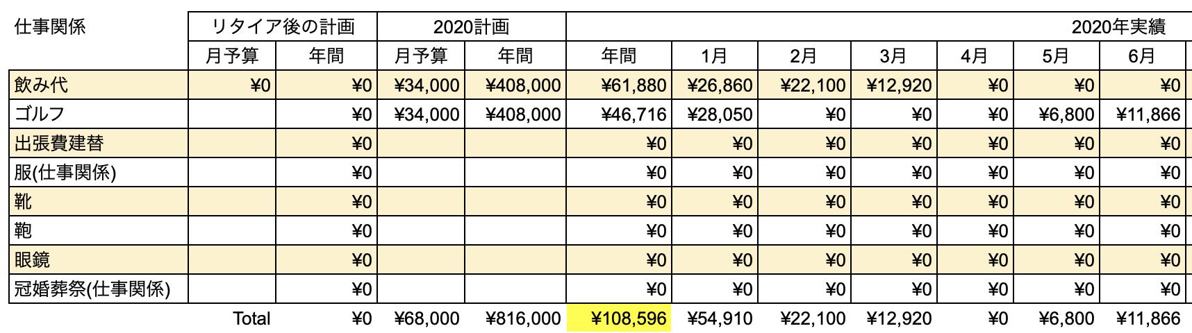 支出実績2020_06月_仕事関係費